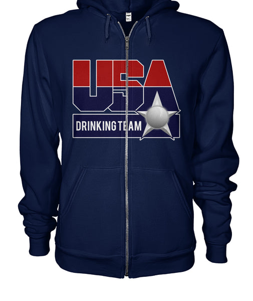 USA Drinking Team Zip Hoodie