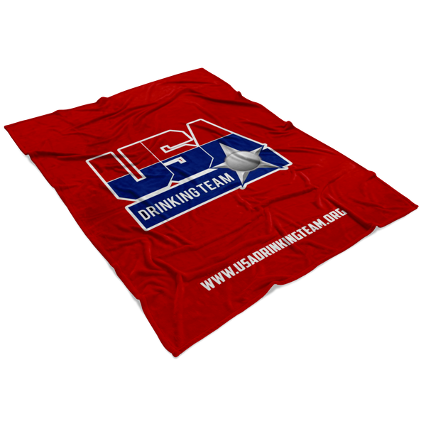 USA Drinking Team Red Blanket