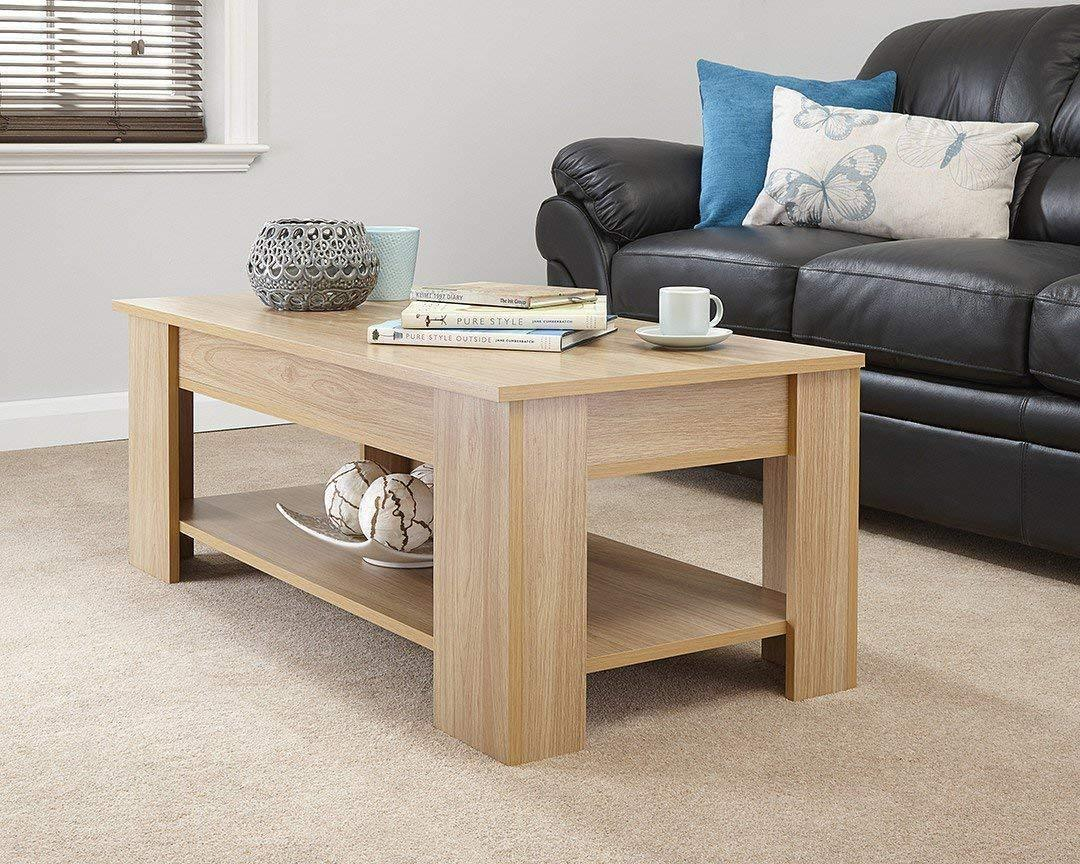 Modern Lift Up Top Coffee Table With Storage Shelf Free