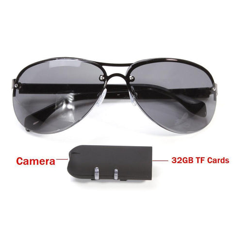 Mini Camera HD Sunglasses 1080P (Biking, Hiking, FIshing, Or Any Outdoor Use)