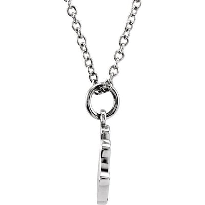 "Sterling Silver Tiny Posh® Crown 16-18"" Necklace"
