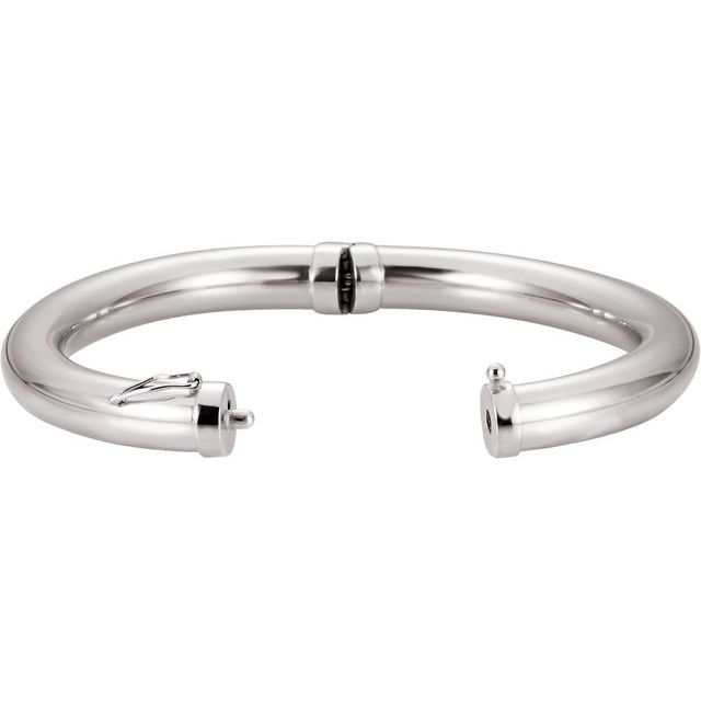 "Sterling Silver 8 mm Hinged Bangle 7"" Bracelet"