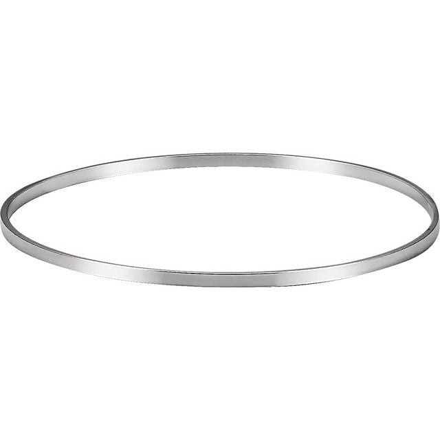 Sterling Silver 2.25 mm Bangle Bracelet