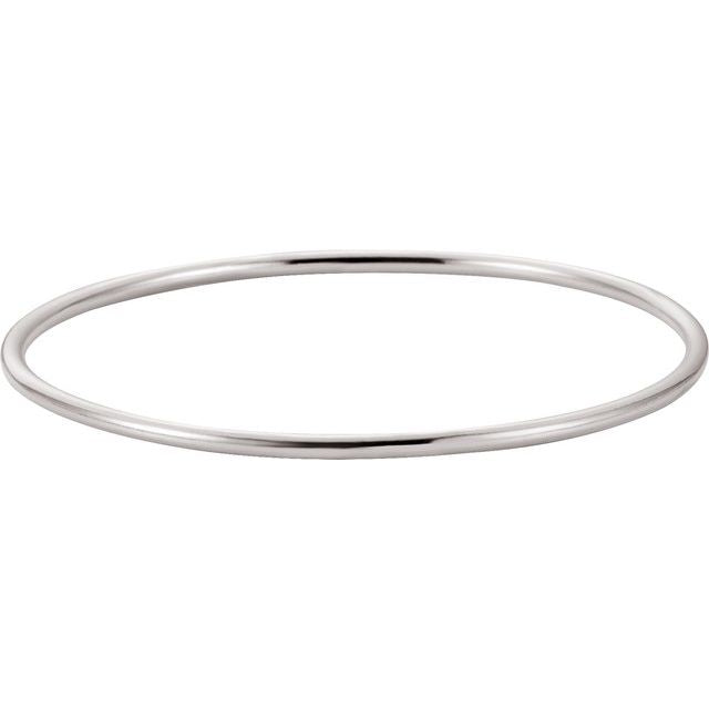 Sterling Silver 2.5 mm Bangle Bracelet