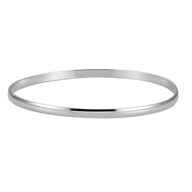 Sterling Silver 4 mm Bangle Bracelet