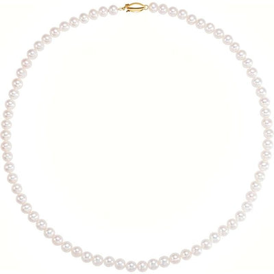 "14K Yellow Freshwater Cultured Pearl 18"" Necklace"