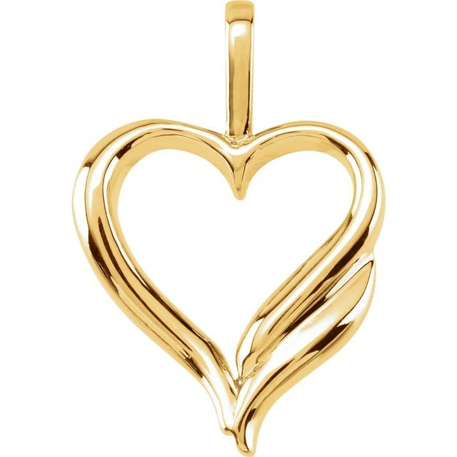 14K Yellow Heart Pendant