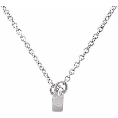 "14K White Freeform Bar 17.44"" Necklace"