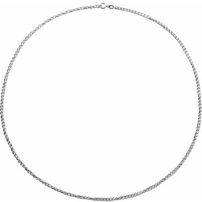 "Sterling Silver 2 mm 16"" Rope Chain with Spring Ring"
