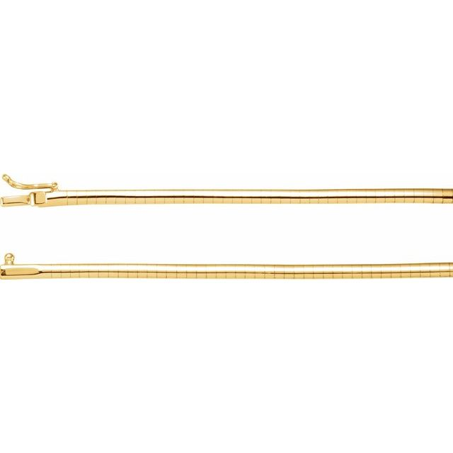 "14K Yellow 3 mm Omega 18"" Chain"