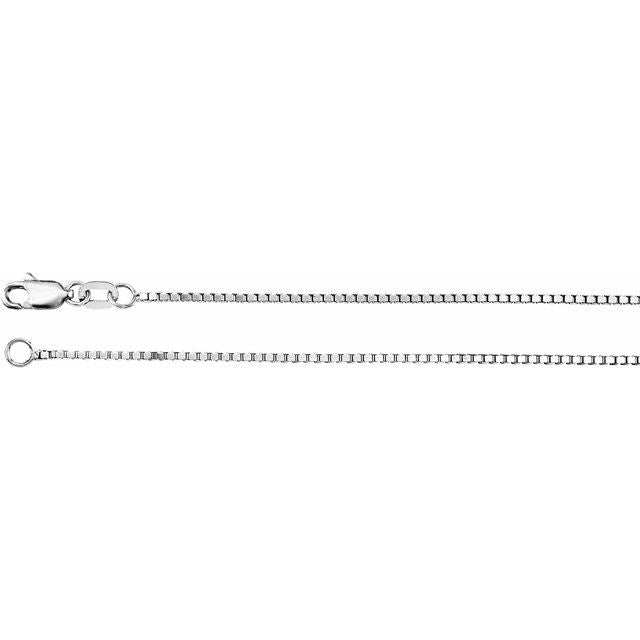 "Sterling Silver 1 mm Box 18"" Chain"