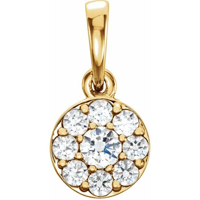14K Yellow 1/4 CTW Diamond Pendant