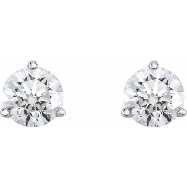 14K Yellow 3/4 CTW Diamond Earrings