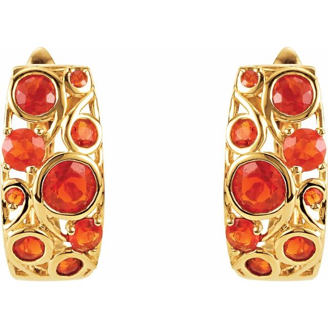Cabochon Hinged Earrings