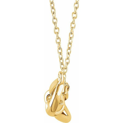 "14K Yellow Bow 18"" Necklace"
