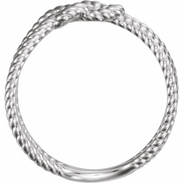 Sterling Silver Rope Knot Ring