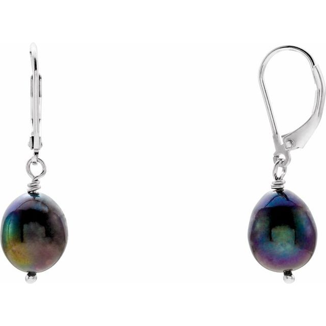 Freshwater Cultured Pearl Lever Back Earrings