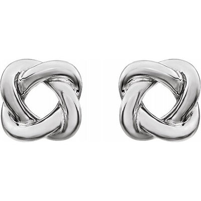 Sterling Silver 7x7 mm Knot Earrings
