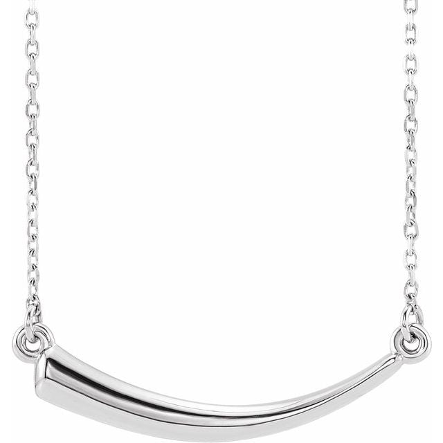 "Sterling Silver Horn 16-18"" Necklace"