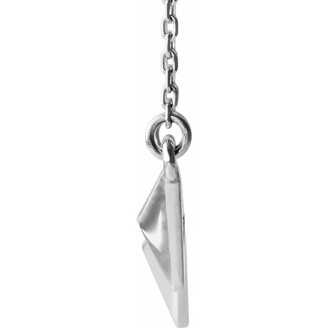 "Sterling Silver Pyramid 16-18"" Necklace"