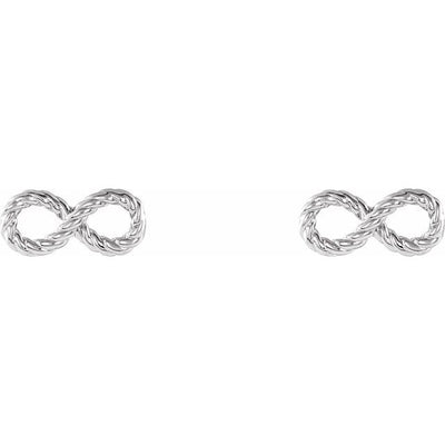 Sterling Silver Infinity-Inspired Rope Earrings