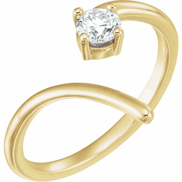14K Yellow 1/4 CTW Diamond Negative Space Ring
