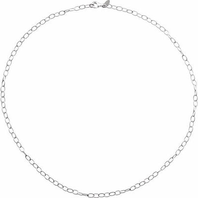 "Sterling Silver 3.5 mm Knurled Cable 16"" Chain"