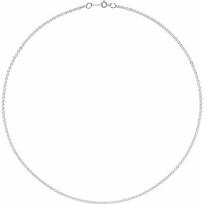 "Sterling Silver 2.1 mm Cable 20"" Chain"