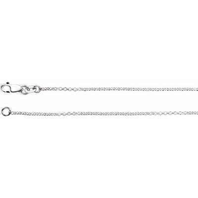 "Sterling Silver 1.3 mm Rolo 20"" Chain"