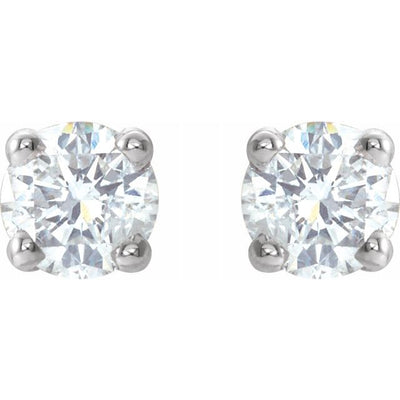 14K White 1/5 CTW Diamond Earrings