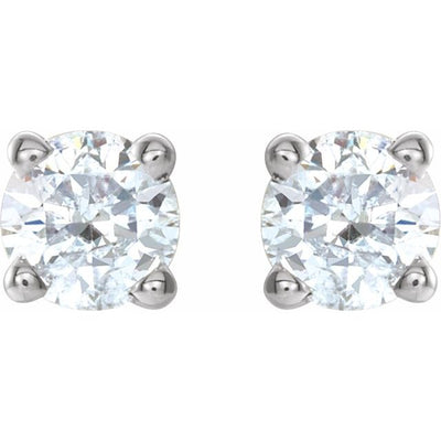 14K White 1/4 CTW Diamond Earrings