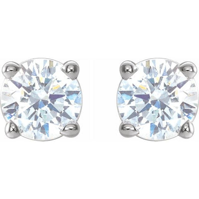 14K White 1/3 CTW Diamond Earrings