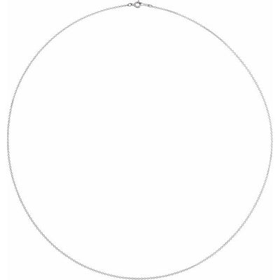 "Platinum 1 mm Adjustable Diamond-Cut Cable 16-18"" Chain"