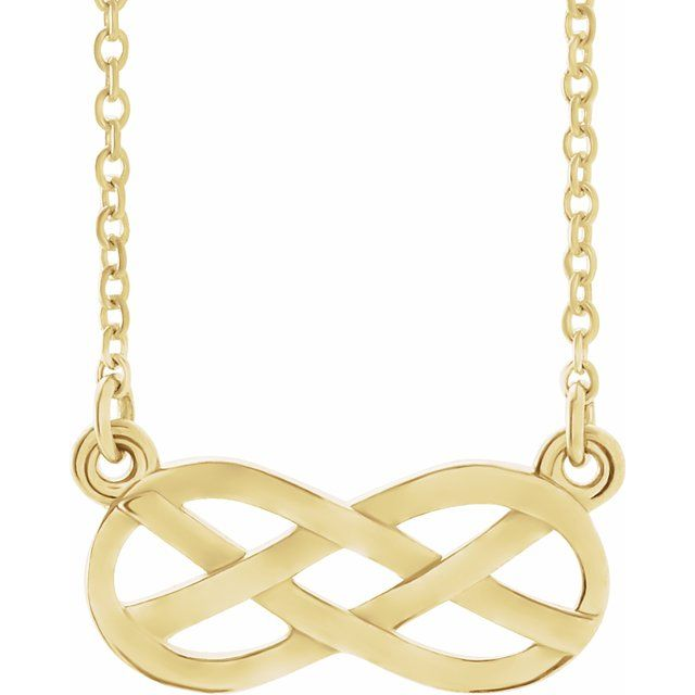 "14K Yellow Infinity-Inspired Knot Design 18"" Necklace"