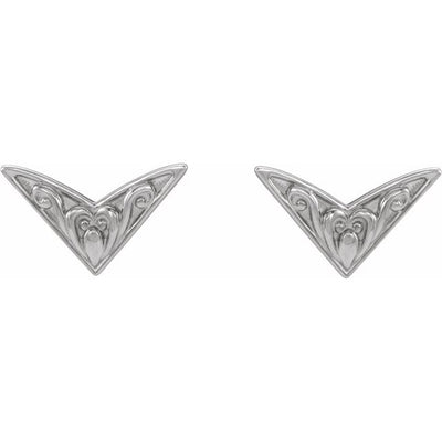 Sterling Silver Sculptural-Inspired Earrings