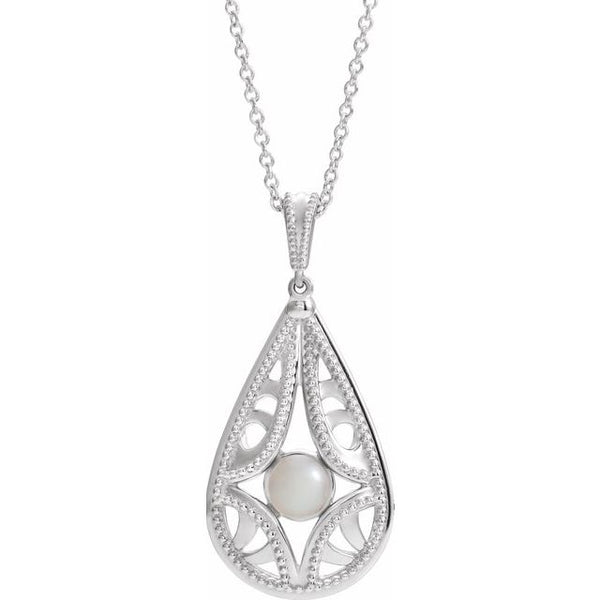 Sterling Silver Vintage-Inspired Freshwater Cultured Pearl