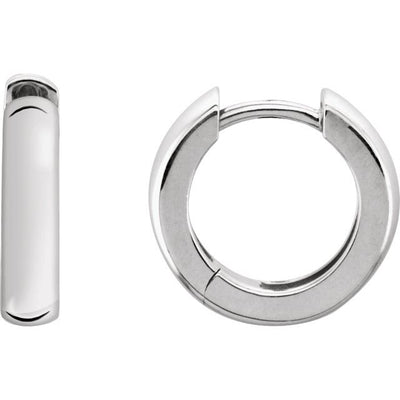 Sterling Silver 14 mm Hinged Earrings