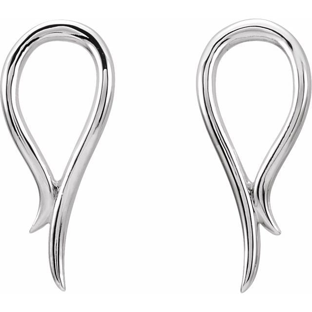 Sterling Silver Freeform Earrings