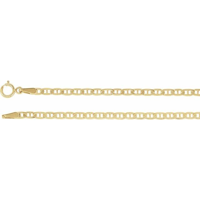 "14K Yellow 2.25 mm Anchor 18"" Chain"