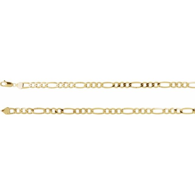 "14K Yellow 6.5 mm Figaro 16"" Chain"