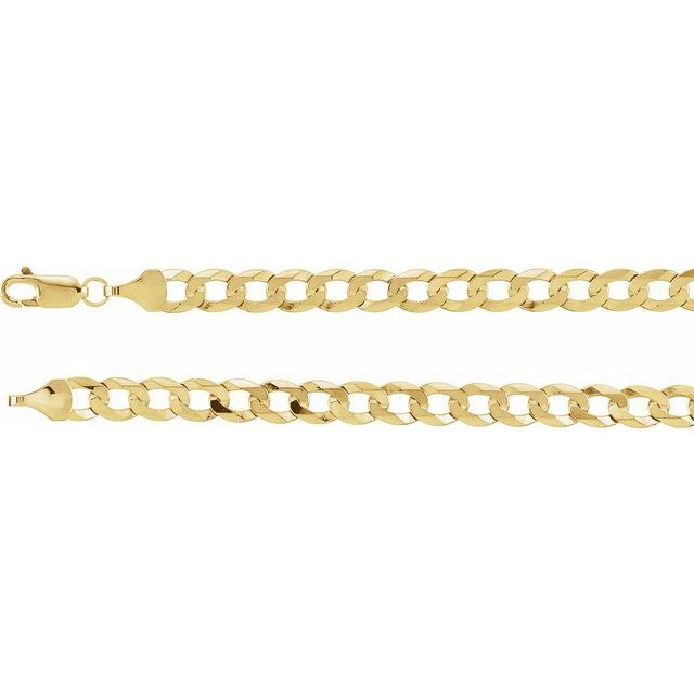 "14K Yellow 5.8 mm Curb 8"" Chain"