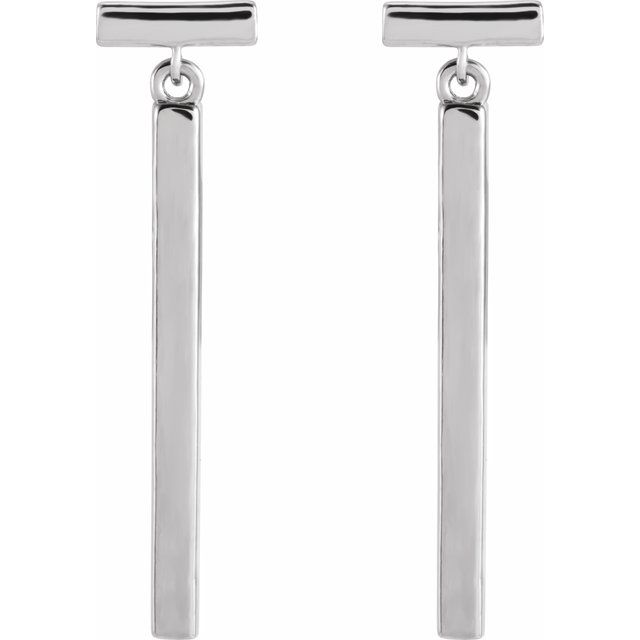 Sterling Silver Articulated Bar Earrings