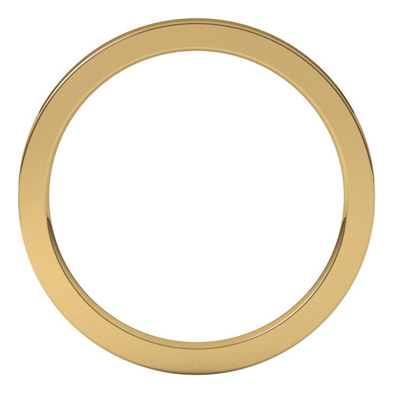 10K  Yellow Gold 1.5 mm Flat Comfort Fit Wedding Band