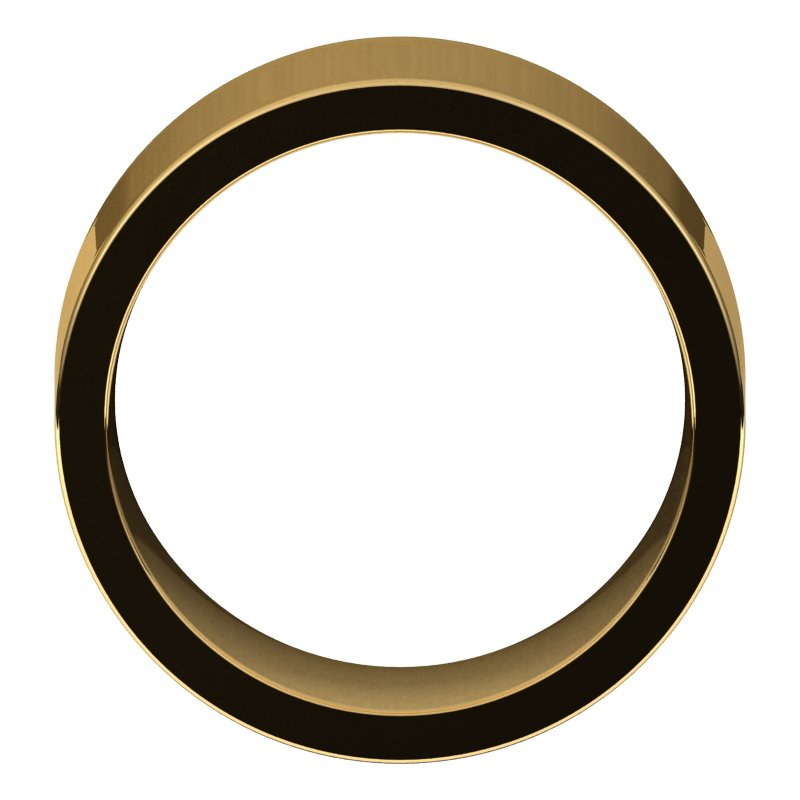 10K  Yellow Gold 10 mm Flat Comfort Fit Wedding Band