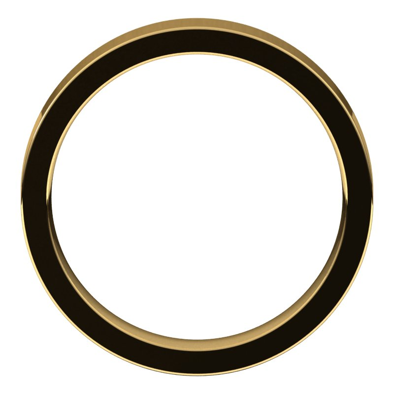 10K  Yellow Gold 4 mm Flat Comfort Fit Wedding Band