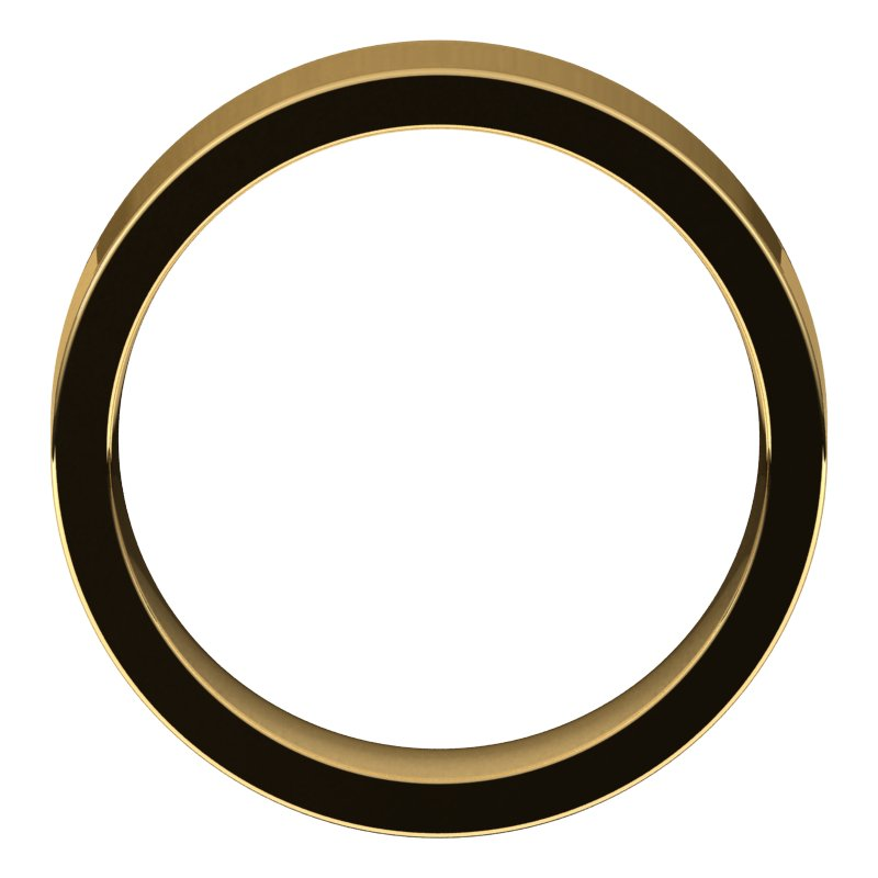 10K  Yellow Gold 6 mm Flat Comfort Fit Wedding Band