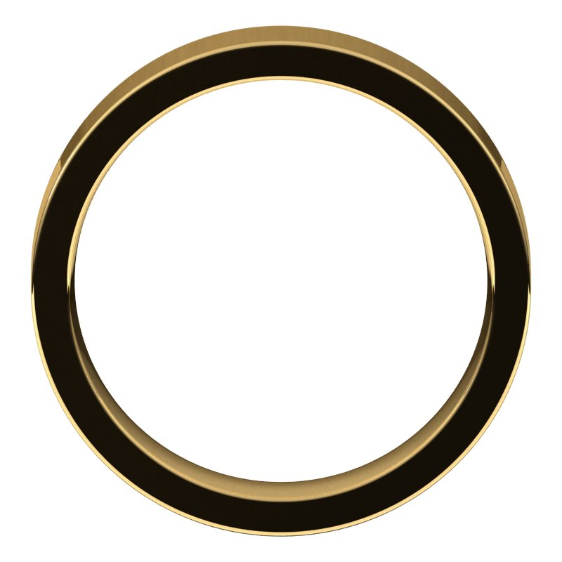 10K  Yellow Gold 5 mm Flat Comfort Fit Wedding Band