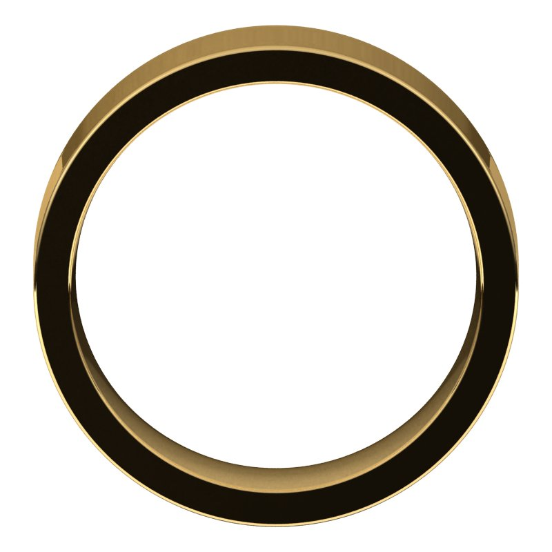 10K  Yellow Gold 7 mm Flat Comfort Fit Wedding Band