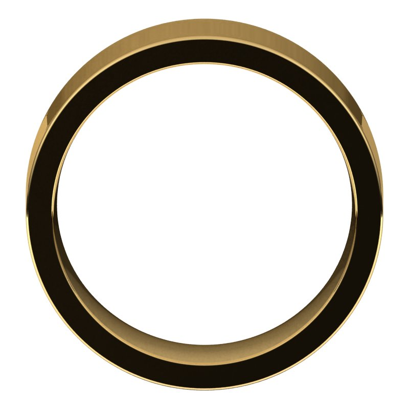 10K  Yellow Gold 8 mm Flat Comfort Fit Wedding Band