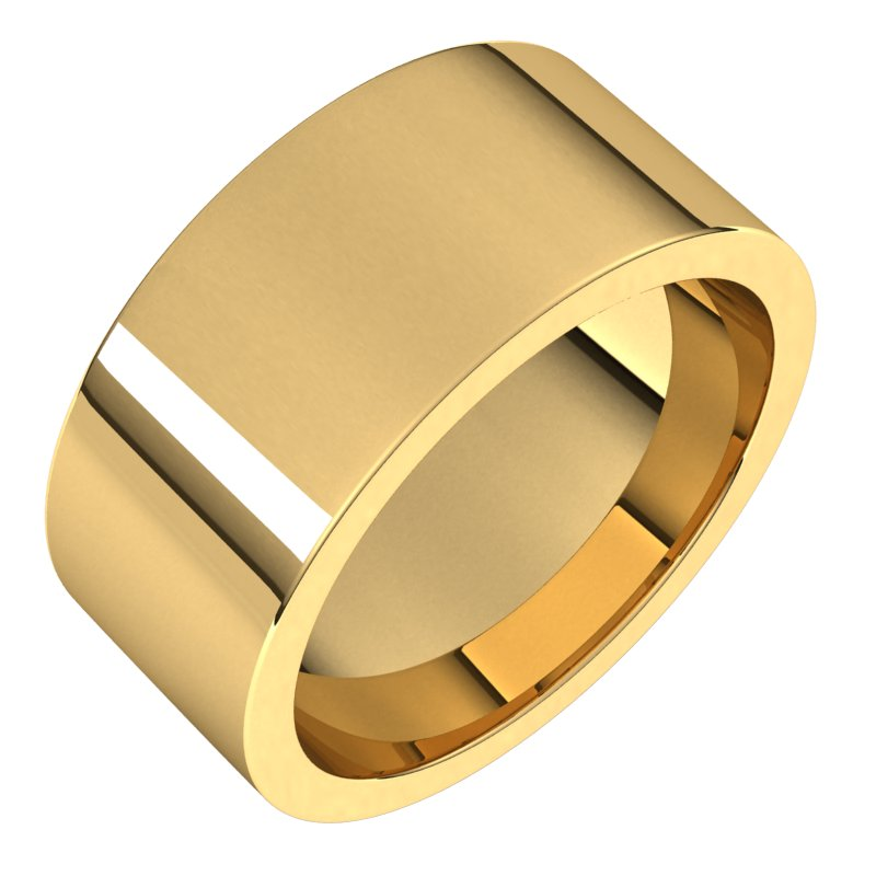 10K  Yellow Gold 9 mm Flat Comfort Fit Wedding Band